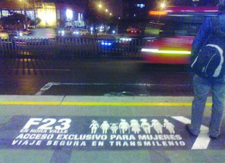 Transmilenio Bogota, Female only Transmilenio