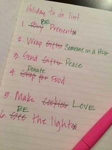 Pro Christmas opinion, CHristmas list