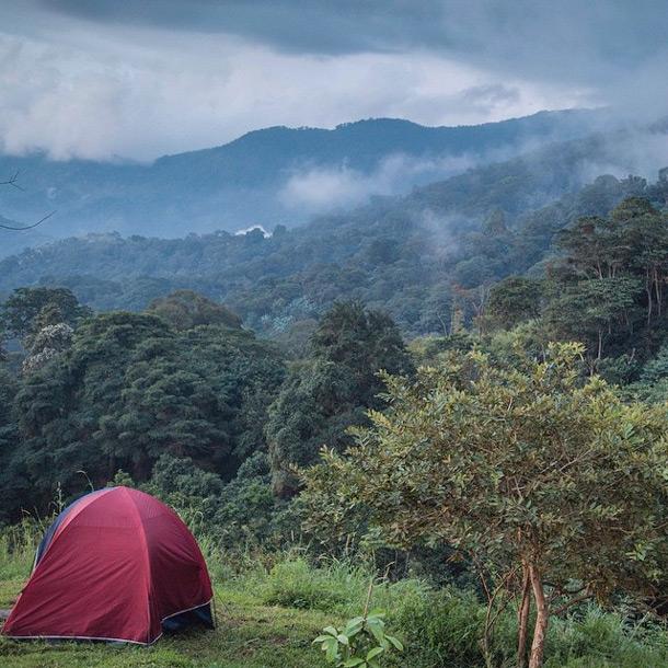 Camping around Bogota