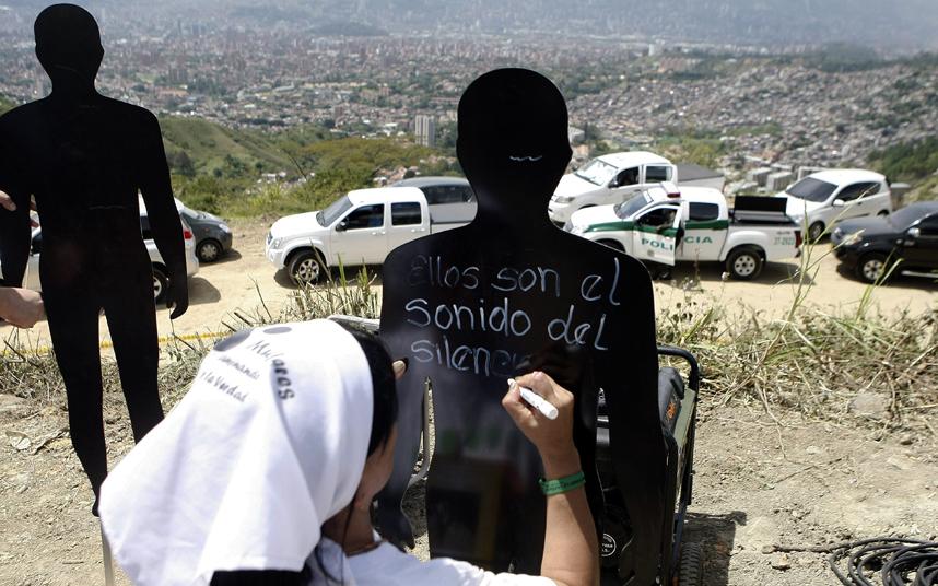 Mass grave in Medellin