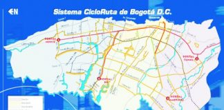 Cycling around Bogota