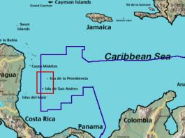 Colombia maritime borders