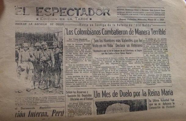 Colombia Korea relations, korean war