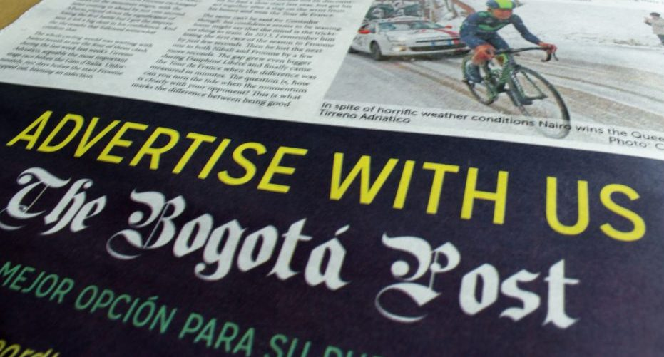 Bogotá Post advertising