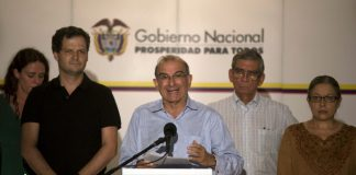 FARC negotiators, Colombian peace process