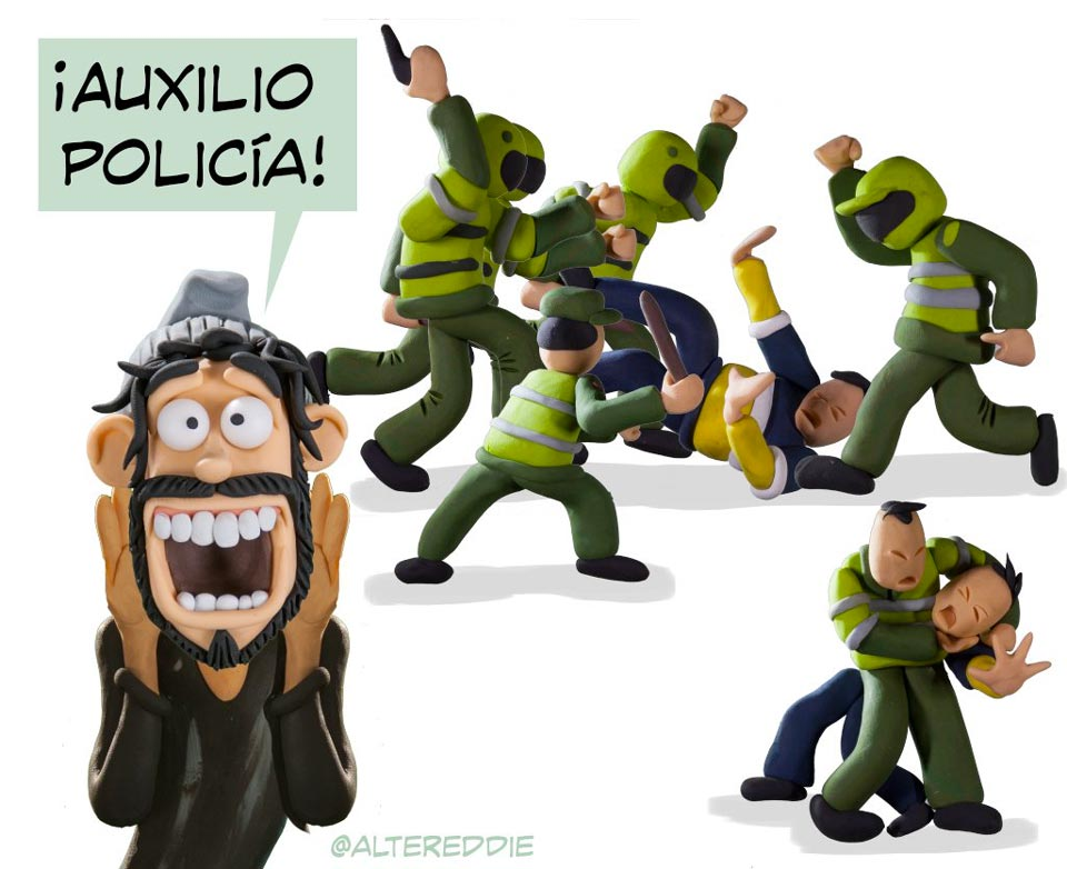 Colombian police brutality