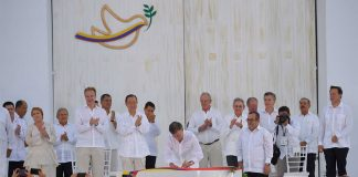 Cartagena peace accord signing ceremony