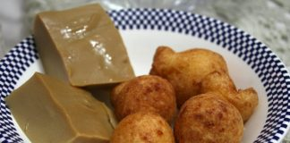 buñuelos and natilla, traditional Christmas food