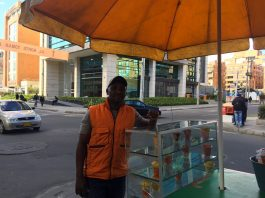 fruit seller Bogotá