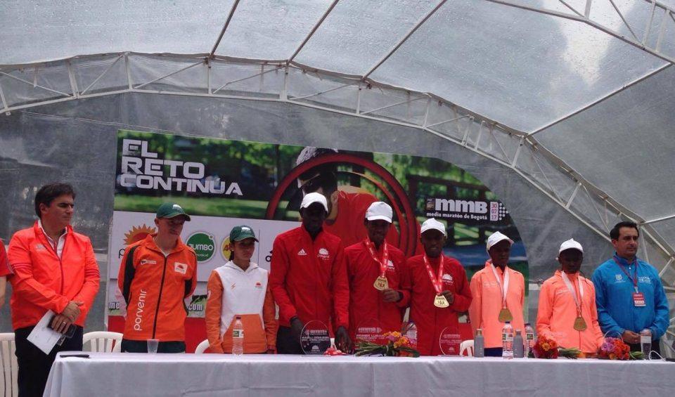 Feyisa Lilesa, Brigid Kosgei, Media Maratón de Bogotá, Bogotá Half Marathon