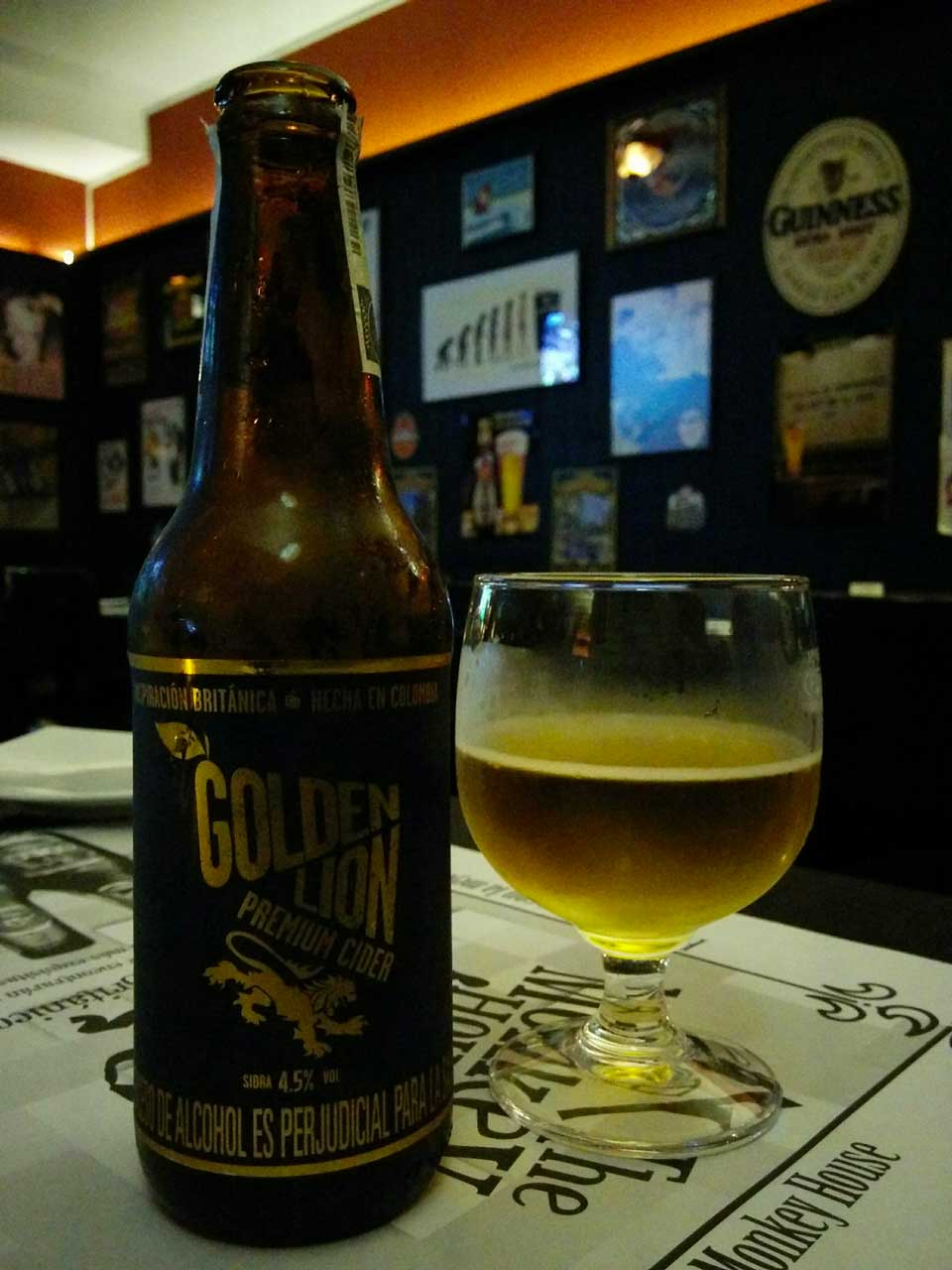 Golden Lion Cider in Colombia