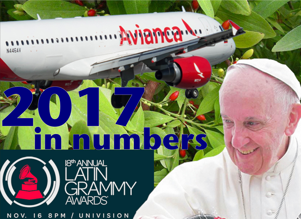 Colombia's 2017 in numbers