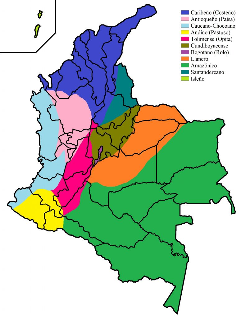 Colombia's different accents