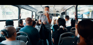 Bus hustlers of medellin