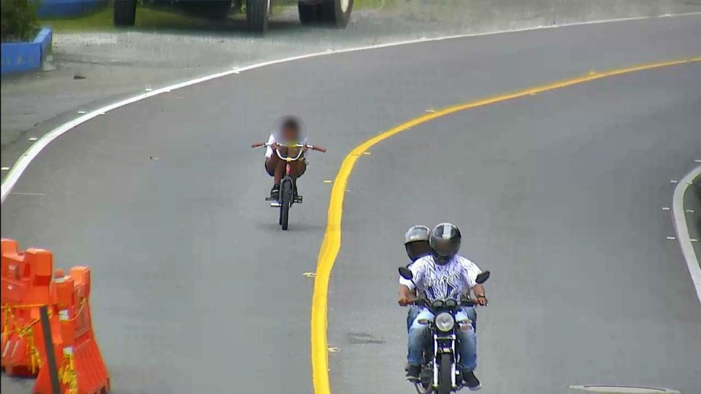Gravity bikers near La Ceja