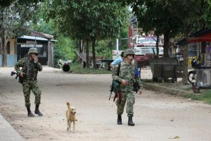 Security forces looking for geurilla group