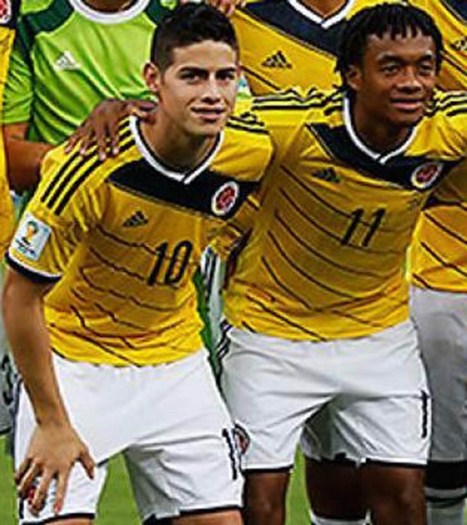 Colombia's World Cup kits