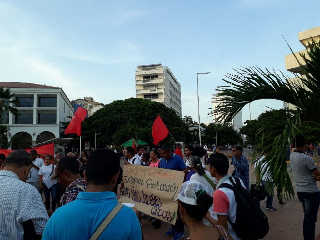 Human Rights Leaders Assasinations Vigil Colombia