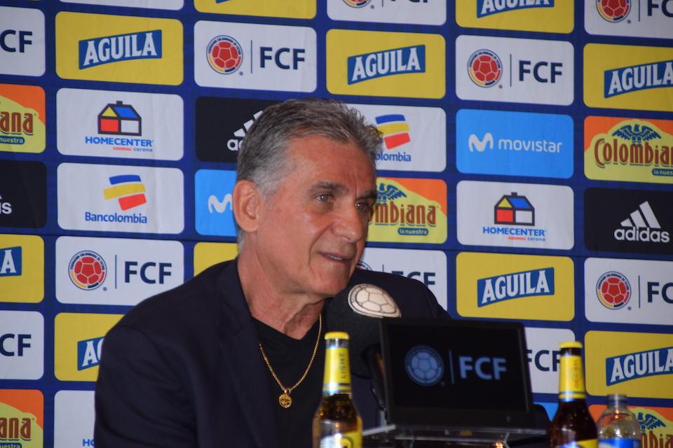 Colombia squad, Carlos Queiroz