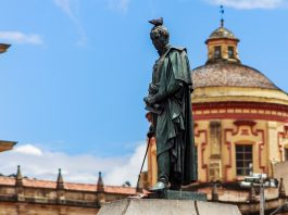 The Simon Bolivar Statue in Bogota