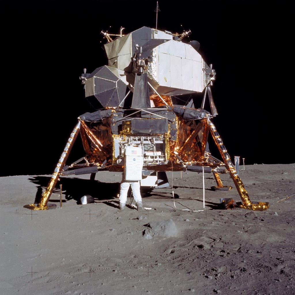 Apollo 11's Eagle Luna Lander on the moon, 50 years ago today. Photo: NASA