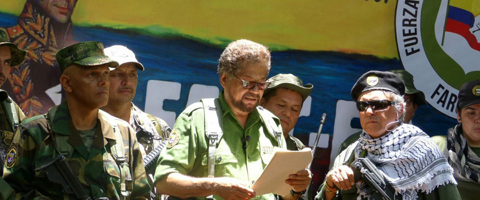 Renegade FARC leader Iván Márquez makes a video announcement that a splinter FARC group will retake arms.
