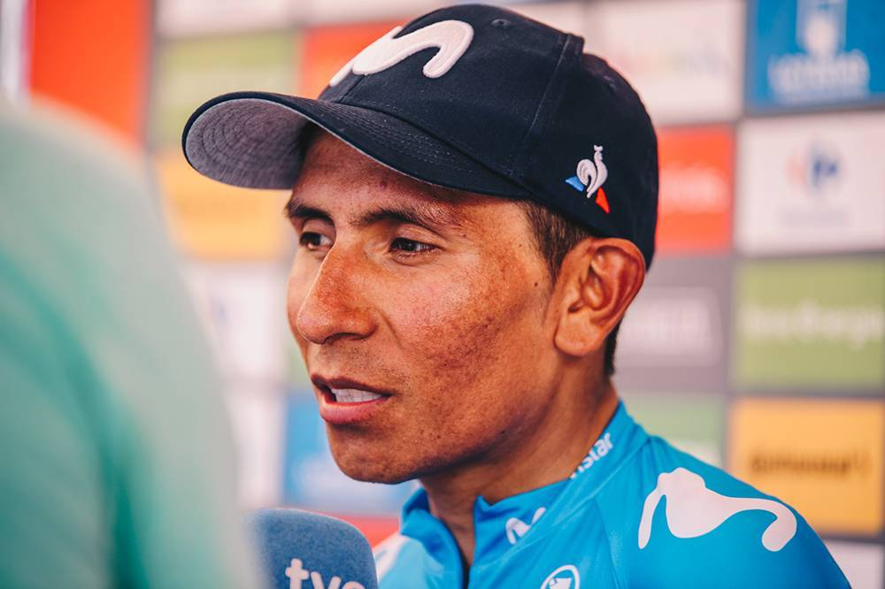 Nairo Quintana won stage 2 and is in the red jersey at the moment.