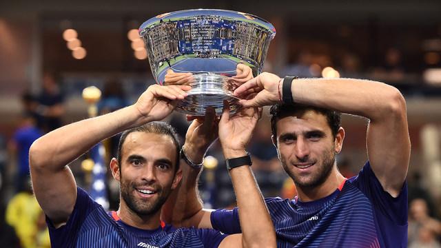 2019 US Open Men's Doubles Champions Juan Sebastian Cabal and Robert Farah.