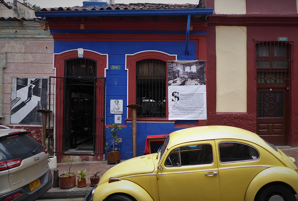 Café Pushkin can be found in the historical centre, la Candelaria.