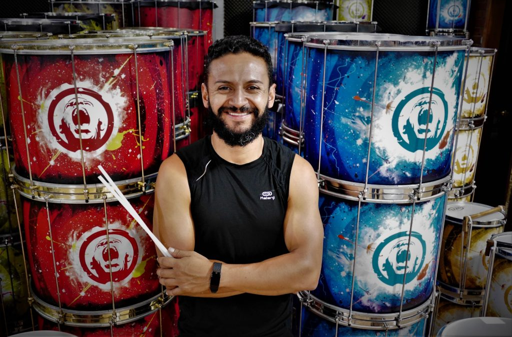 Aainjaa founder Homera Cortés: Batucada drumming has become his work, life and passion.