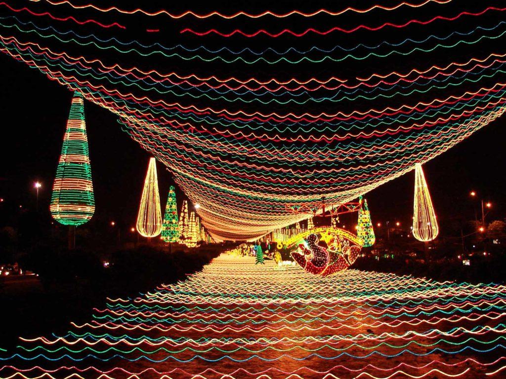 Christmas lights up Colombia in December