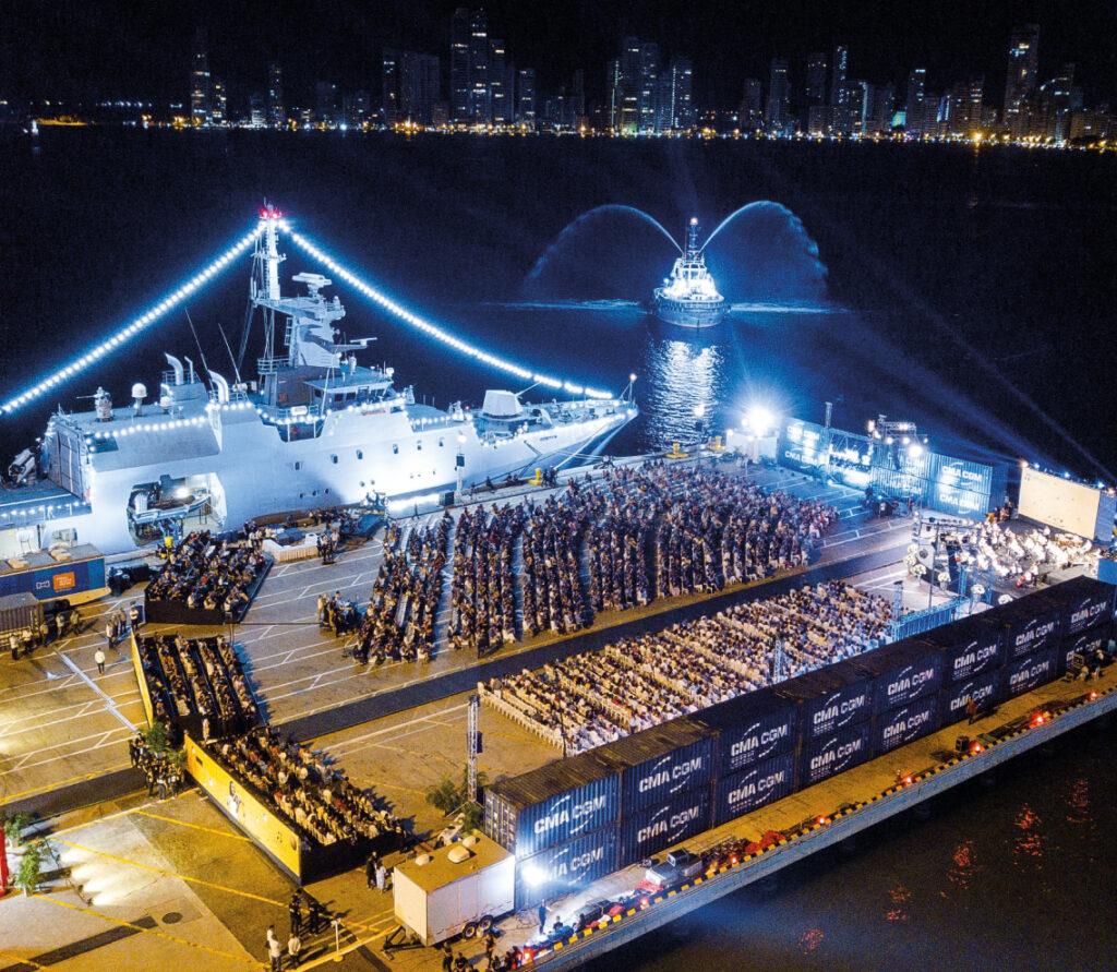 A concert in Puerto de Cartagena.   Photo: Cartagena Music Festival.