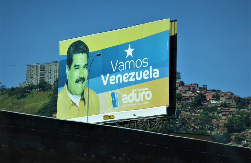 Maduro's image dominates Venezuela, though many countries no longer recognise him as a legitimate leader.