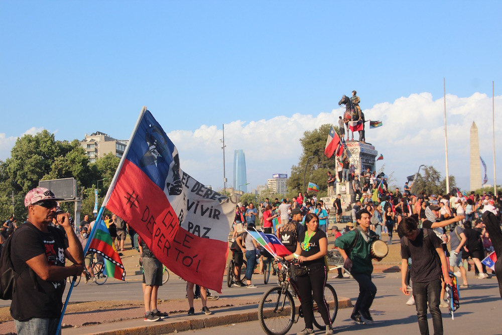 The Latin American Spring doesn't exist, Chile's are very different from the ones in Colombia.