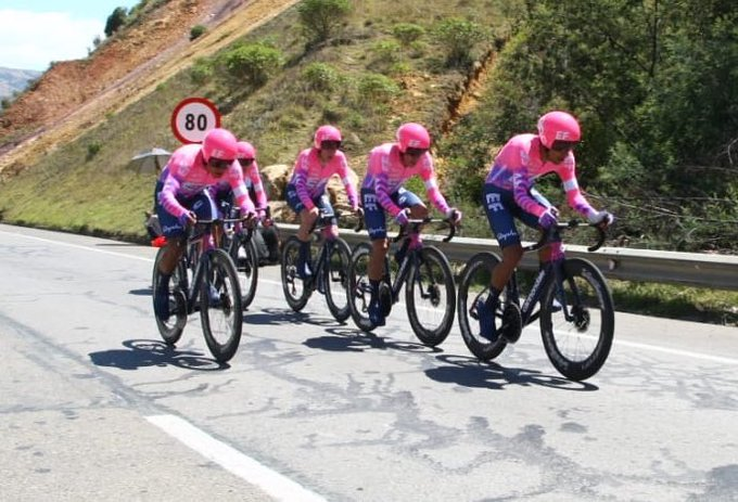 Education First won the opening Team Time Trial in the Tour Colombia 2.1.