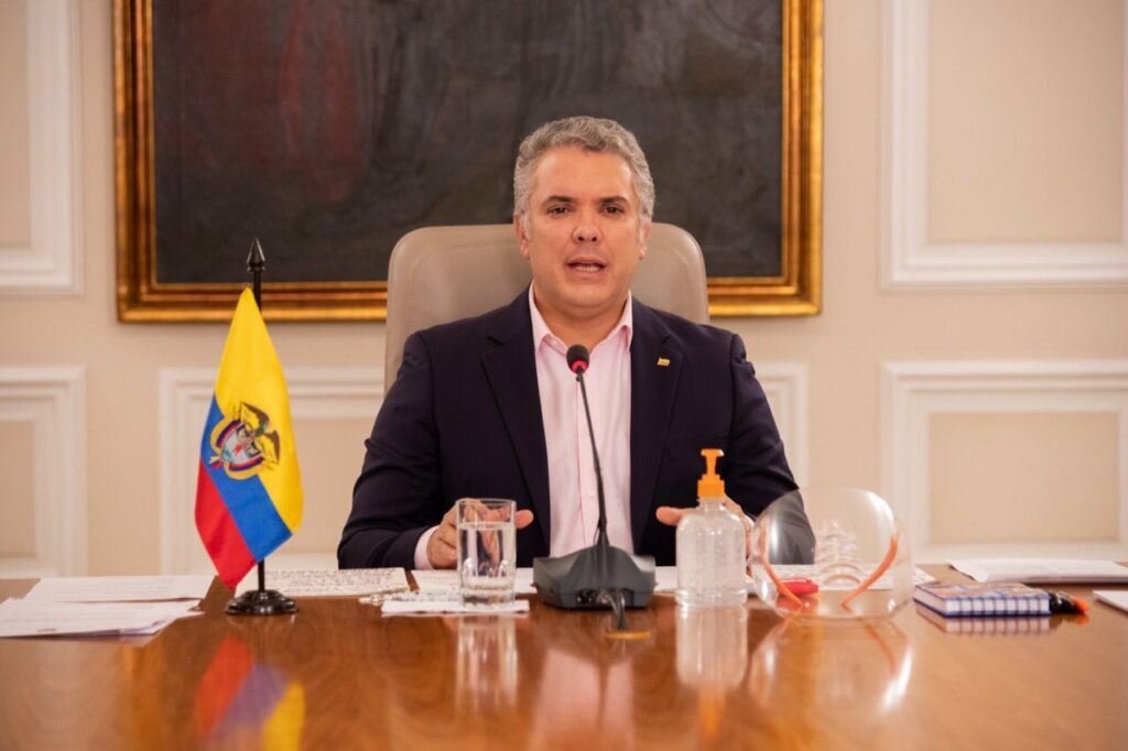 Duque announced the lockdown in Colombia will be extended until May 11.