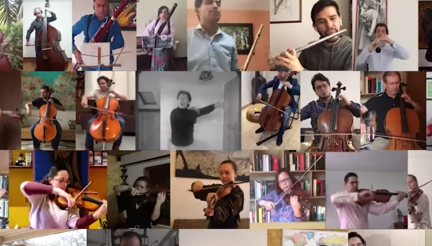 As performances continue during coronavirus, the Orchestra Filarmónica de Bogotá are hosting an online receital.