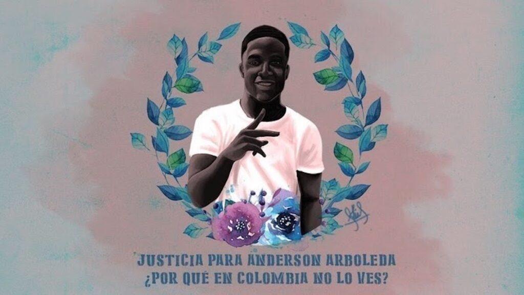 Black Lives Matter in Colombia: Illustration of Anderson Arboleda.