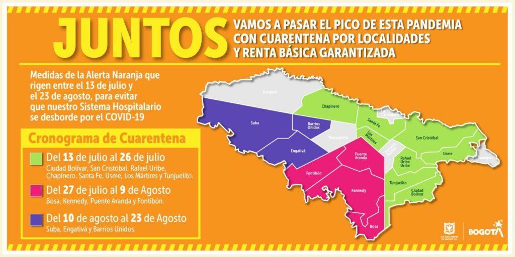 Quarantine in Bogotá will return in phases.