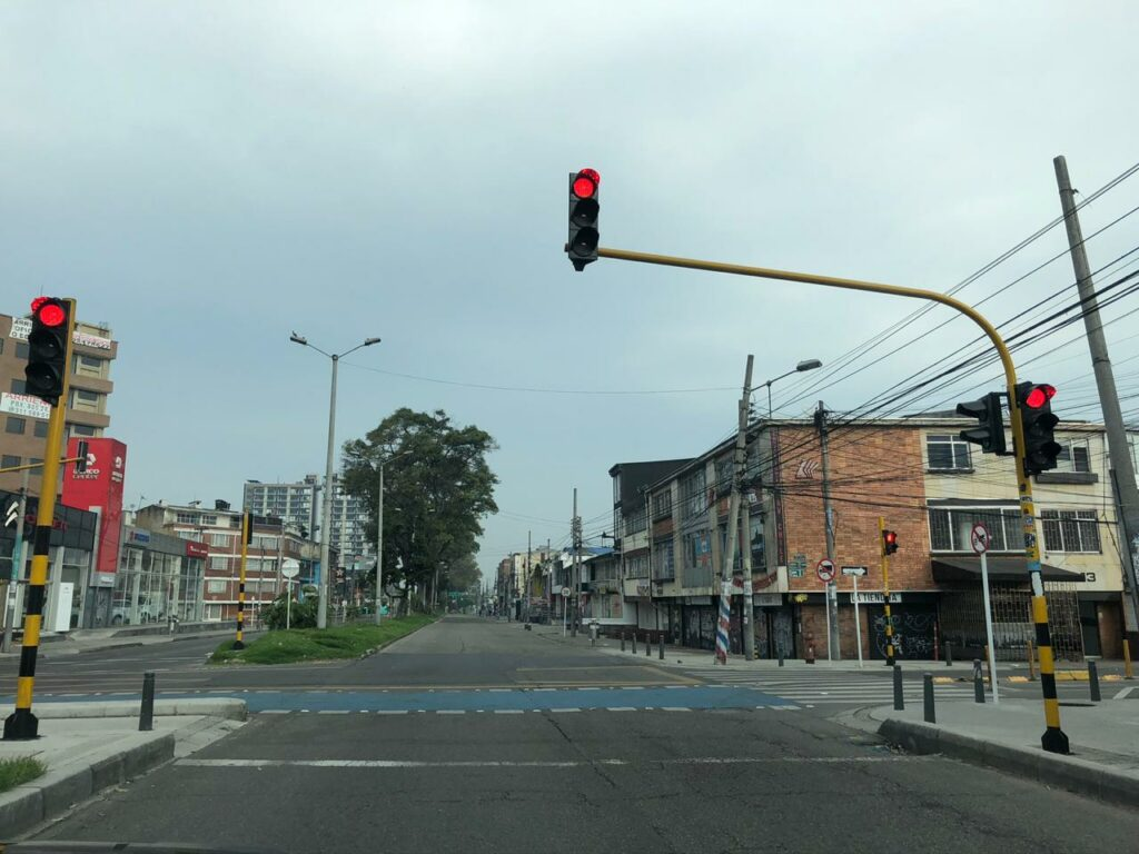 Another curfew imposed in Bogotá, will the streets be this empty again? Photo: Artemis María Papoutsakis